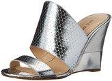 Nine West Women's Aniya Metallic Wedge Sandal
