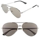 Saint Laurent Women's Classic 11 Zero 60Mm Aviator Sunglasses - Gold/ Green