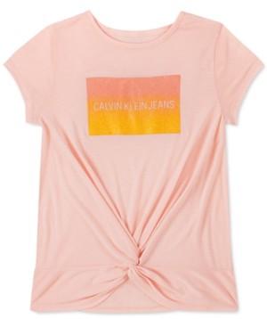 Calvin Klein Big Girls Twisted Glitter T-Shirt