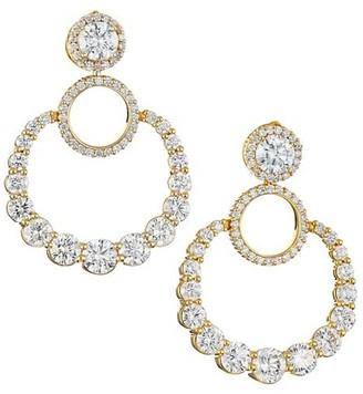 Plevé Pirouette 18K Yellow Gold & Diamond Door Knocker Hoop Earrings