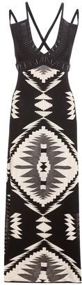 Ralph Lauren Embellished leather-trimmed dress