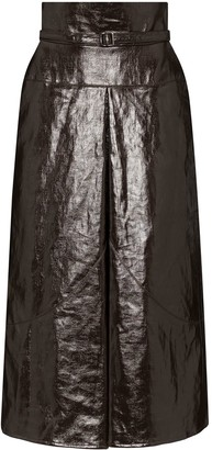Lemaire Belted High-Waist Midi Skirt