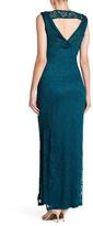 Marina V-Neck Long Lace Dress