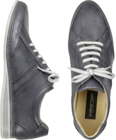 Pakerson Signature Grey Leather Sneaker Shoes