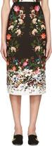 Erdem Black Maria Convertine Rose Skirt