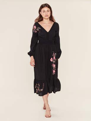 MISA Los Angeles Giovanna Eyelet Maxi Dress