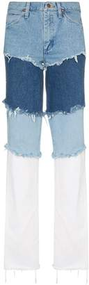 Natasha Zinko Wrangler high waisted layered jeans