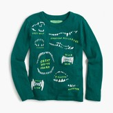 J.Crew Boys' long-sleeve glow-in-the-dark animal teeth T-shirt