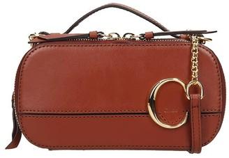 Chloé C Vanity Shoulder Bag In Brown Leather