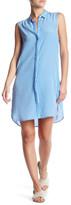 Equipment Lanie Sleeveless Silk Shirt Dress
