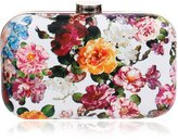 HAPPYTIMEBELT Hard Case Floral Pattern Printed Wedding Clutch