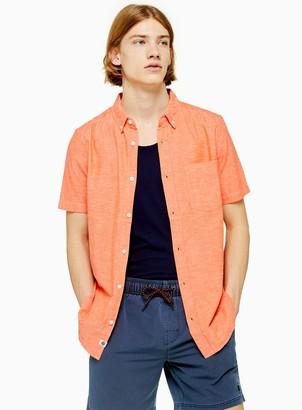 Topman ELEMENT Chambray Short Sleeve Shirt*