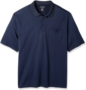 Van Heusen mens Big and Tall Jacquard Stripe Short Sleeve Polo Shirt