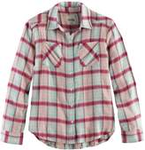 Mudd Girls 7-16 & Plus Size Metallic Plaid Button-Front Flannel Shirt