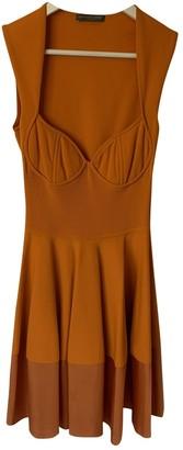 Alexander McQueen Orange Viscose Dresses