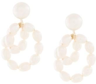 Natasha Schweitzer 9kt yellow gold mini Coco pearl earrings