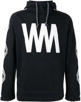 White Mountaineering initial print hoodie - men - Cotton - 0
