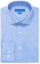 Vince Camuto Slub Cotton Slim Fit Dress Shirt
