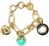 Aqua Brand Gold-Tone Chain Link Charm Bracelet