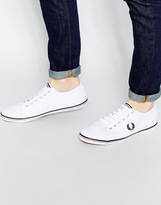 Fred Perry Kingston Twill Plimsolls - White
