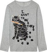 Stella McCartney Bella cat print T-shirt 4-16 years