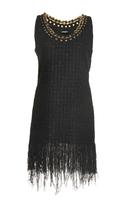 Balmain Frayed Tweed Short Dress