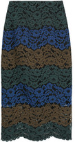 Sandro Julee Embroidered Lace Midi Skirt