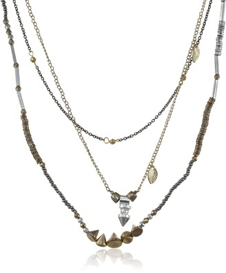 Marc Labat 13H12-Boheme-Women's Necklace-Metal-Gold/Silver - 42 cm