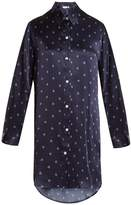 Derek Rose Brindisi 19 silk-satin pyjama shirtdress