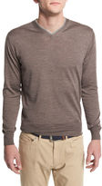 Peter Millar Silk-Blend V-Neck Pullover Sweater