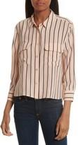 Equipment Women's Signature Crop Stripe Silk Shirt