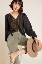 Dolan Left Coast DOLAN Collection Astrid Embroidered Peasant Blouse