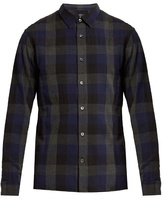 Vince Buffalo-checked Cotton Shirt