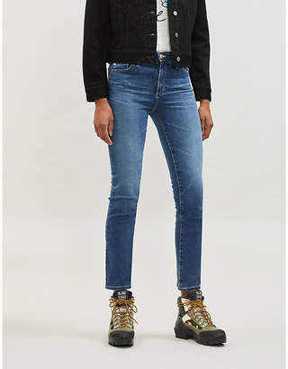 AG Jeans Ladies Dark Blue Mari High Rise Slim Fit Straight Jeans