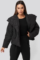 NA-KD Quilted Short Padded Jacket Black