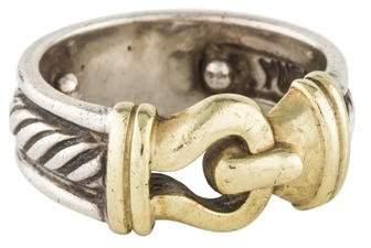 David Yurman Two-Tone Buckle Ring