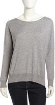 Joie Wool-Knit Pullover Sweatshirt, Heather Gray