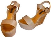 Louis Vuitton Gold Cloth Sandals