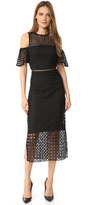 Cynthia Rowley Geo Cold Shoulder Dress
