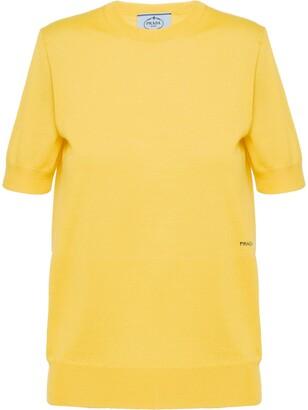 Prada knitted logo T-shirt