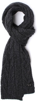 Edwin Shackle Charcoal Grey Cable Knit Scarf