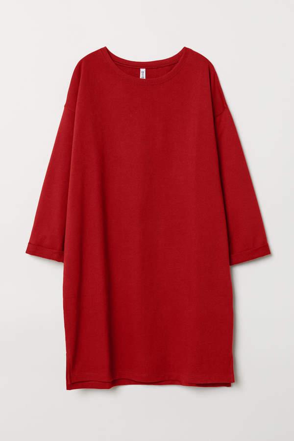 H&M Sweatshirt Dress - Red