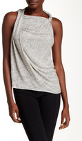 Cupcakes And Cashmere Hampshire Twisted Linen Tank
