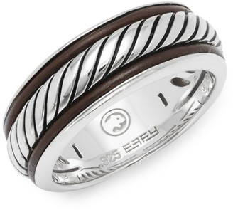 Effy Leather and Sterling Silver Band Ring