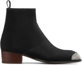 Giuseppe Zanotti Metallic Toe Cap Ankle Boots