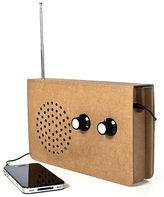 Suck UK NEW Cardboard FM Radio MP3 Player/Speaker