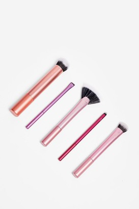 Nasty Gal Womens Real Techniques 5-Pc Cosmetic Brush Set - Multi - ONE SIZE, Multi