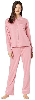 Michael Stars Sloane Pin Dot Classic PJ Set w/ Piping (Rosebud) Women's Pajama Sets