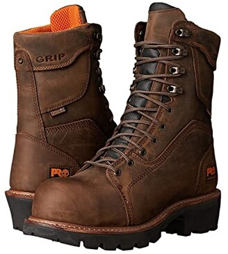Timberland 9 Composite Safety Toe Waterproof Insulated Logger (Brown Leather) Men's Work Boots