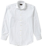 Thomas Dean Gingham Square Long-Sleeve Woven Shirt